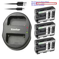Kastar Battery Dual Charger for Sony NP-FM500H & Alpha ¦Á77II a77 II SLT-A77 II