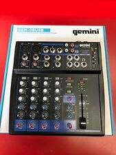 Gemini GEM-08USB 8 Channel USB Bluetooth Mixer for Podcast Recording Live Sound