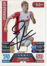 Paul Verhaegh  FC Augsburg  Match Attax Card 2015/16 signiert 400606