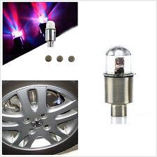 4 Pcs LED coloré feux voiture roue pneu pneu Valve poussière Caps couvre pneu Set