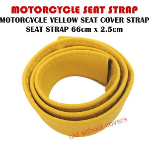 Motorrad Gelb Sitzbezug Riemen Seat Gurt- Neu Super Qualität