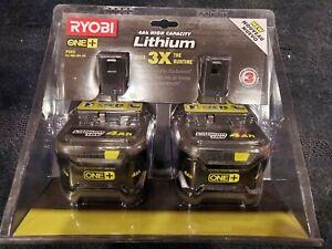 Ryobi ONE+ 18V P145 (2x P197) 4.0Ah Battery - 2 Pack New