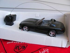 Black Dodge Viper RT/10 wireless remote control car 1/25 scale by JRL Racing