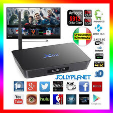 X92 Smart TV Box Android 6 Octa Core 2G+16G Amlogic S912 KODI 16.1 WIFI 64bit