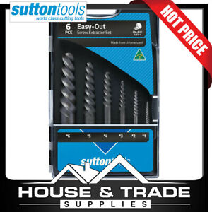Sutton Tools Screw Extractor Set 6 Piece #1-#6 Easy-Out M603S15A
