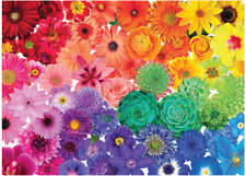 1000 Pieces Jigsaw Puzzles Beautiful Flowers Puzzle DIY Assembling Game Toys