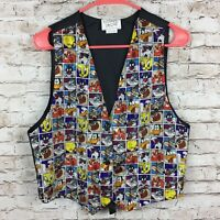 Vintage (1994) Looney Toons Multi-Color Vest - One Size Fits Most - Bugs Daffy