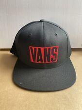 VANS STAX SNAPBACK CAP HAT BLACK RRP £23**NEW FREE P&P**