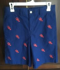 VINEYARD VINES Shep & Ian Boys Blue Shorts w/ Embroidered Lobsters Size 16 - EUC