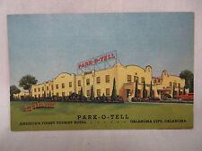 VINTAGE LINEN POSTCARD THE PARK-O-TELL HOTEL IN OKLAHOMA CITY OKLAHOMA UNUSED
