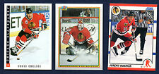 1990-91 1993-94 Score Bowman Chicago Blackhawk Complete Team Sets (3) NM-MT