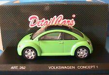 VW NEW BEETLE CONCEPT 1 1994 GREEN DETAILCARS 1/43 VERT