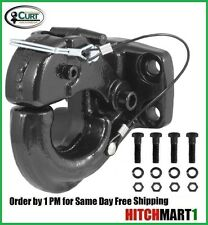 CURT Pintle Hook 30 Ton Trailer Hitch Pintle Tow Hook w/ Grade 8 Hardware 60,000