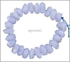 Blue Chalcedony Faceted Nugget Free Form Beads ap.14mm #59064