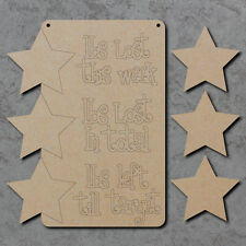 Weight Loss Chart Sign - Wooden Blank Laser Cut mdf Craft Shapes