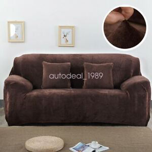 Soft Stretch Protector Furniture Cover Velvet Sofa Slipcover Living Room