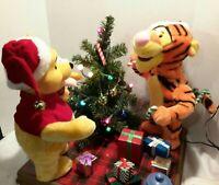 Disney Winnie the Pooh & Tigger Piglet Animated Singing Dancing Christmas Tree