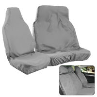 2Pcs Universal Heavy Duty Van Front Seat Covers Car Grey Waterproof Protectors