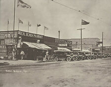 "SEAL BEACH Pharmacy MAIN STREET Vintage Cars Photo Print 886 11"" x 14"""