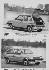 AUSTIN  METRO VANDEN PLAS PRESS PHOTO APRIL 1982  'BROCHURE CONNECTED' SET OF 3