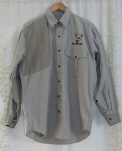Browning Super Naturals Khaki Hunting Shooting Snap Front Shirt Men's Medium
