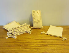 """1 NEW COTTON MUSLIN BAG WITH DRAWSTRINGS 5"""" BY 8"""" BATH SOAP HERBS QUALITY BAGS"""