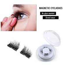 2 Pairs Dual Magnetic False Eye lashes 3D Ultra Thin Natural Reusable Eyelashes