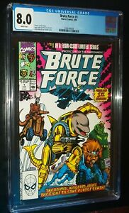 BRUTE FORCE #1 1990 Marvel Comics CGC 8.0 VF White Pages