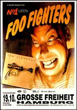 Foo Fighters Concert Poster Grosse Freiheit Hamburg 1995 German Bus Side