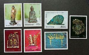 [SJ] Korea Antique 1977 Buddha Statue Jewelry Heritage Art Culture (stamp) MNH