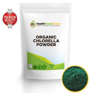 Organic Chlorella Powder Cracked Wall (UK Certified) 100g 250g 500g 1kg 2kg 5kg