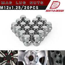 20 Mag Lug Nuts 12X1.25 Chrome FITS MOST SUBARU NISSAN INFINITI Factory Wheels