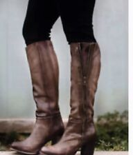 NIB $350 FREEBIRD BY STEVEN Beau Tall Riding Boots Stone 9