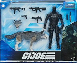"GI Joe 6""Figure Classified Deluxe Snake Eyes & Timber Alpha Commandos In Stock"