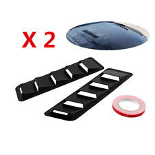 "2X Black 16.7x4.5"" Car Hood Vent Air Flow Body Fake Window Louver Decoration ABS"