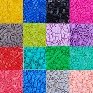1Box 5mm Melty Beads PE DIY Fuse Tube Beads Refills Perler Beads for Kids 500pcs