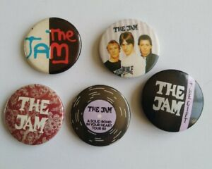Vintage Pin Badges The Jam x 5