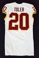 #20 Greg Toler of Washington Redskins NFL Locker Room Game Issued Jersey