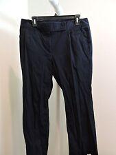Talbots Signature Cotton Blend Dark Blue Boot Cut Pants - Size - 12W