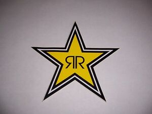 "Rockstar Energy Drink 7"" Star Logo Sticker Decal skater motocross New!"
