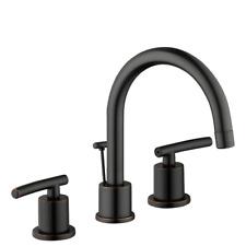 Bathroom Faucet Dorset Widespread Ceramic Disc Valves High Arc Bronze 8 in.