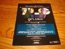 TLC 2003 promo ad for hit 'Girl Talk' Chilli, T-Boz, Lisa 'Left Eye' Lopez