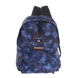 NAPAPIJRI GEOGRAPHIC Backpack Large Camouflage Logo Patches Padded Straps Zipped