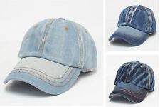 Men Women Blue Jeans Denim Punk Baseball Sports Outdoor Cool Hip Hop New Hat Cap