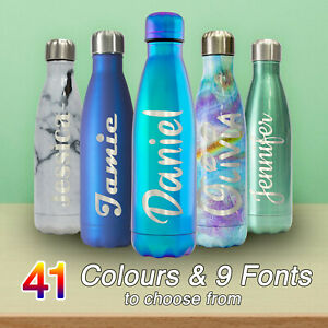 Personalised Water Bottle Chilly Flask !! Many Colours