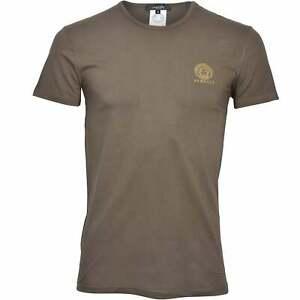 Versace Iconic Crew-Neck Men's T-Shirt, Military Green
