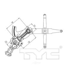 Power Window Motor and Regulator Assembly Front Left TYC 660288