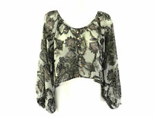 Paisley Long Sleeve Hand-wash Only Casual Tops for Women