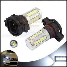 2 X White 6000K 33SMD H16 5202 5201 Auto Car Fog truck LED Light Bulbs Lamp