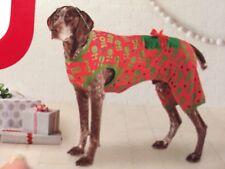 "Target Christmas Dog Pet Pajamas Size Large Ho Ho with a Bow 90 lbs Neck 16-28"""